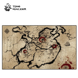【买二赠一】TW三国战略图锁边桌布*3